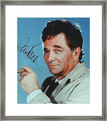 Autographed Color Photograph Of Peter Falk  Framed Print by Pd