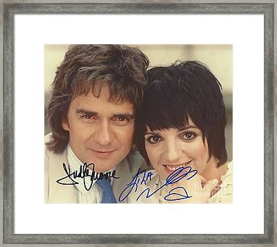 Autographed Dudley Moore And Liza Minnelli  Framed Print by Pd