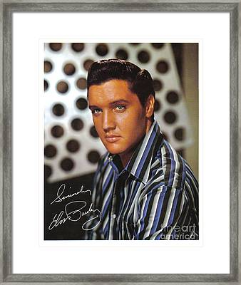 Autographed Elvis Framed Print by Pd