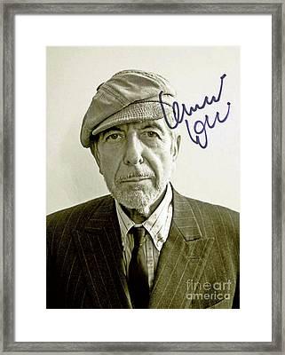 Autographed Lenard Cohen  Framed Print by Pd