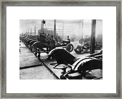 Automobile Manufacturing Framed Print by Granger
