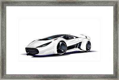 Framed Print featuring the drawing Automobili Lamborghini Concept by Brian Gibbs