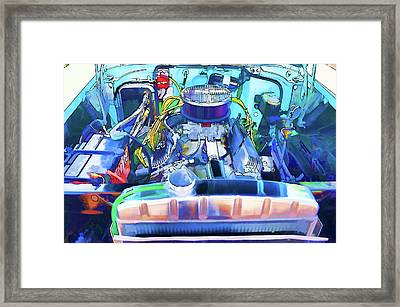 Automotive Engine Framed Print by Lanjee Chee