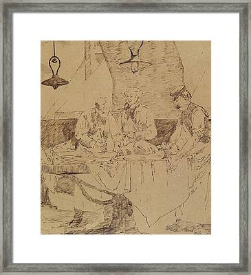 Autopsy At The Hotel-dieu Framed Print by Henri Gervex