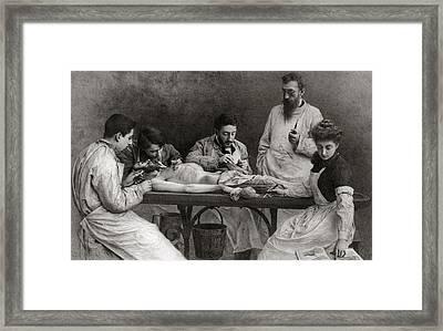 Autopsy Framed Print by Camille Felix Bellanger