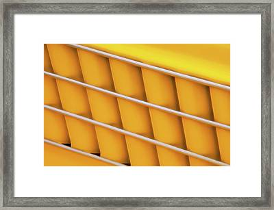 Autos As Art - Yellow Vehicle Graphic Framed Print by Mitch Spence