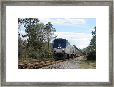 Autotrain At Lake Woodruff Framed Print