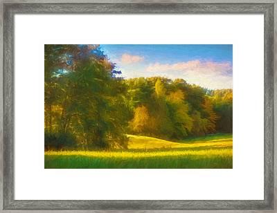 Autumn Light Framed Print by Lutz Baar