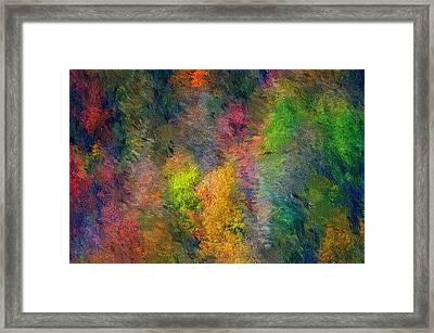 Autum Hillside Framed Print by David Lane