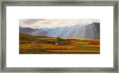 Autumn - Hex-river Valley Framed Print by Basie Van Zyl