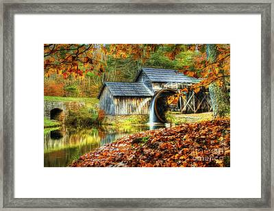 Autumn 2015 At Mabry Mill Framed Print by Darren Fisher