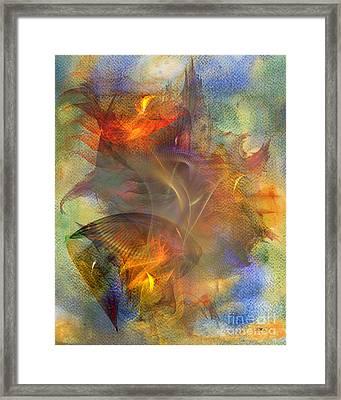 Autumn Ablaze Framed Print by John Robert Beck