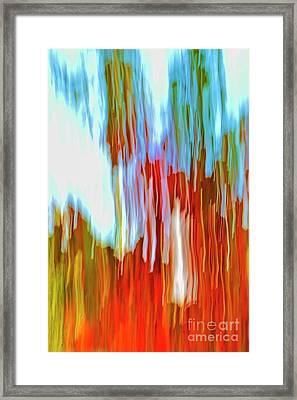 Autumn Abstract #1 Framed Print by Daniel J Ruggiero