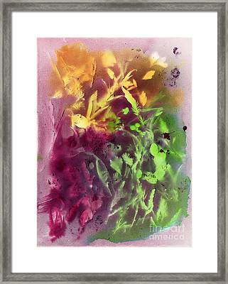 Autumn Abstract Framed Print by Dawn Marie Black