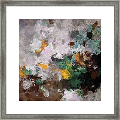 Autumn Abstract Painting Framed Print by Ayse Deniz