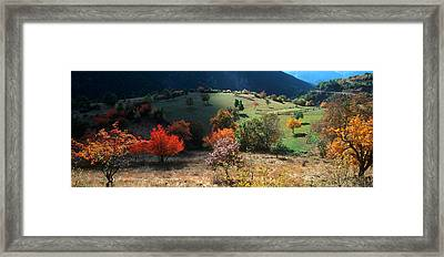 Autumn Afternoon Landscape In French Framed Print