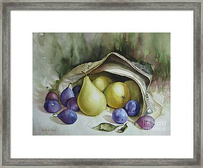 Framed Print featuring the painting Autumn Again by Elena Oleniuc