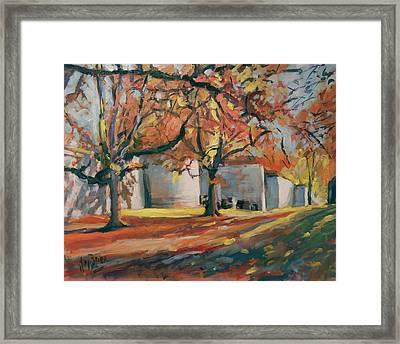 Autumn Along Maastricht City Wall Framed Print