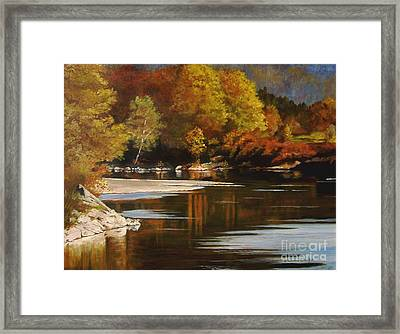 Autumn Along The Stillaguamish Framed Print
