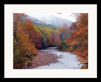 Rushing Mountain Stream Framed Prints