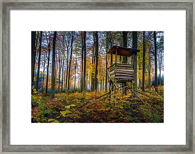 Autumn And Hunting Tower Framed Print