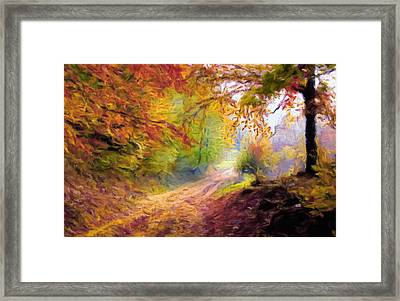 Autumn And The Morning Mist Framed Print