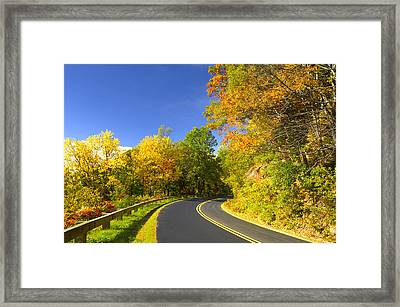 Autumn Appalachian Drive Framed Print by Darrell Young