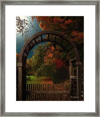 Autumn Archway Framed Print by RC deWinter