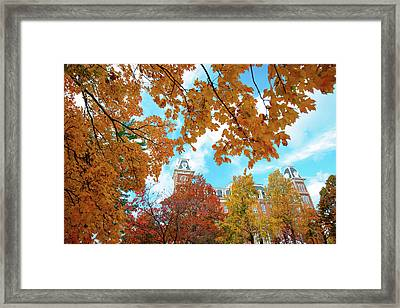 Autumn Around Old Main - University Of Arkansas - Fayetteville Framed Print
