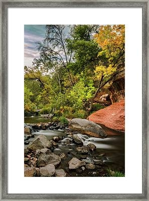 Autumn Arrives In Arizona  Framed Print