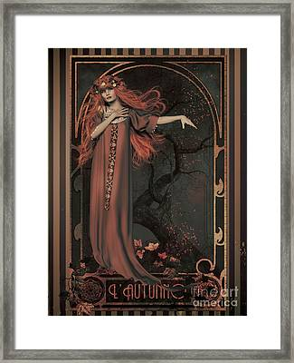 Autumn Art Nouveau  Framed Print