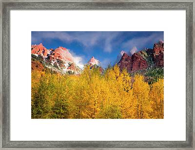 Framed Print featuring the photograph Autumn Aspens by Andrew Soundarajan