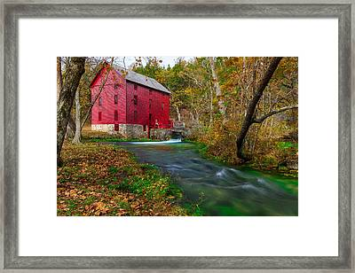 Autumn At Alley Spring Framed Print by Jackie Novak