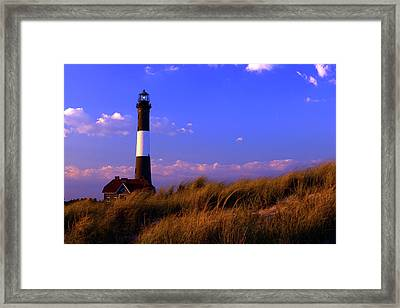 Autumn At Fire Island Lighthouse Framed Print