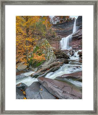 Autumn At Kaaterskill Falls Framed Print by Bill Wakeley
