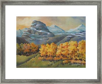 Autumn At Kananaskis Framed Print