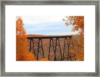 Framed Print featuring the photograph Autumn At Kinzua Bridge by Rick Morgan