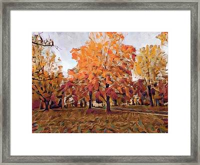 Autumn At Lincoln University Framed Print by Susan Maxwell Schmidt