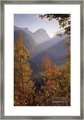 Autumn At Logan Pass Framed Print