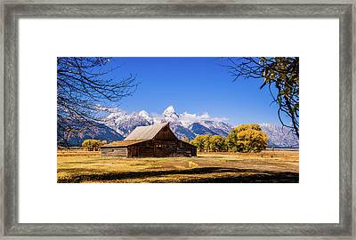 Autumn At Moulton Barn Framed Print by TL Mair