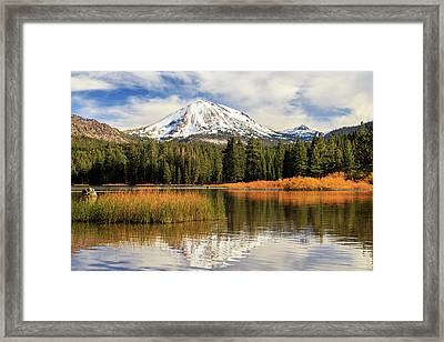 Framed Print featuring the photograph Autumn At Mount Lassen by James Eddy