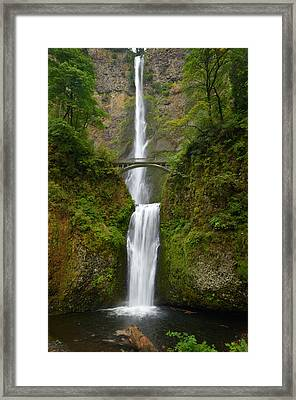 Autumn At Multnomah Falls Framed Print