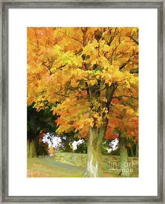 Autumn At Olana 5 Framed Print