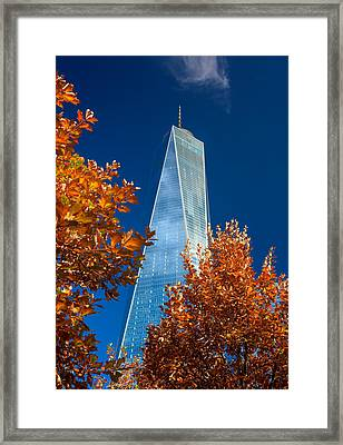 Autumn At One Wtc Framed Print by Rick Berk