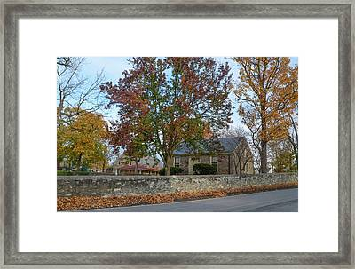Autumn At Plymouth Meeting Friends Framed Print by Bill Cannon