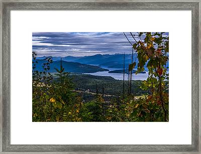 Autumn At Priest Lake Framed Print