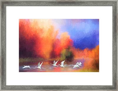 Autumn At Rivers Edge Framed Print