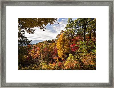 Autumn At Roaring Fork Framed Print by Lana Trussell