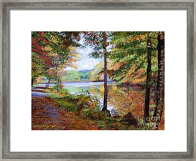 Autumn At Rockefeller Park  Framed Print