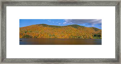 Autumn At Scenic Lake Near Woodstock Framed Print by Panoramic Images